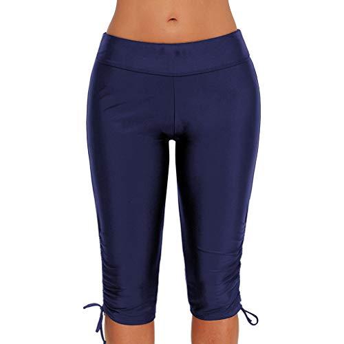 hahashop2 Super Weiche Laufhose Damen - Leggins Stretch-Hose Lauf-Tights für Schlüssel Yoga Haremshose Enge fünf Hosen Frauen hohe Taille...