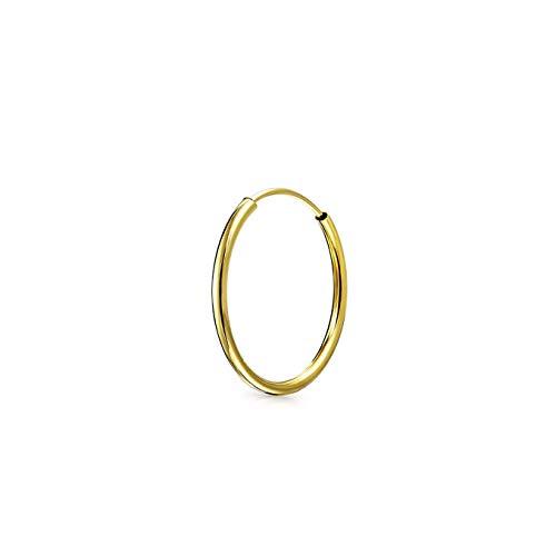 Minimalistische Geometrische Leichte Reale 14K Gold Ohr Creolen Tragus Piercing Conch Daith Helix Knorpel Ohrring 12MM