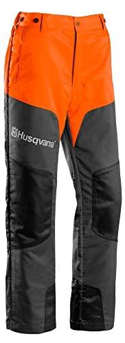 Husqvarna Schnittschutzhose (Chainsaw Protective Pants Classic 20A Chainsaw Protective Pants Grau, Orange, Grau, Orange, Einfarbig, Polyester, Class 1(20m/s), CE)