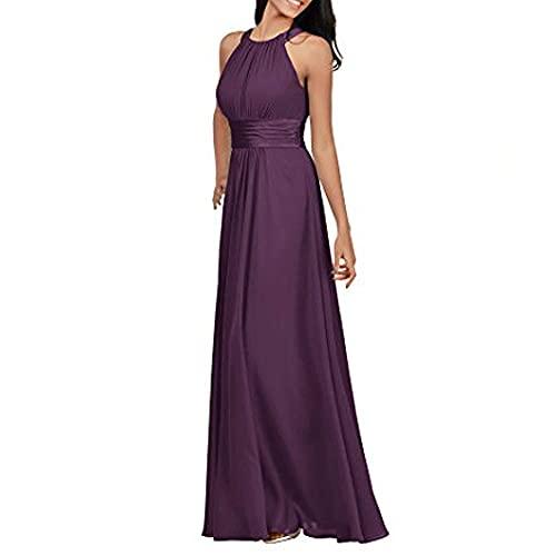 Encaje Tul Vestido de Fiesta,2021 Temporada de Regreso a la Escuela Vestido Largo de Baile-Grape Violet_54,Vestido de Dama de Honor Encaje