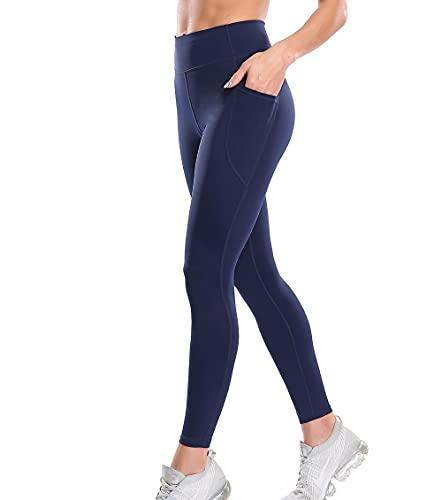 Lalamelon Mallas Pantalones Deportivos Leggings Mujer Fitness con Bolsillos de Cintura Alta Yoga Leggins sin Costuras para Running Deporte Estiramiento Elásticos y Suave