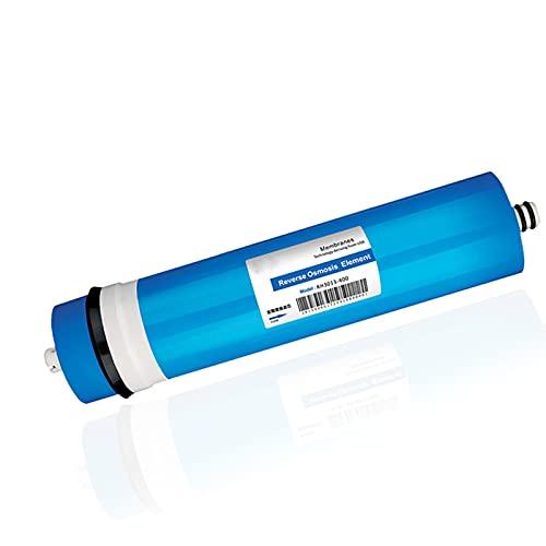 XCJ Membrana RO de 0,0001 micrones, Cartucho purificador de Agua Universal 3013-400 GPD Que Elimina el 99% de los contaminantes en el Agua