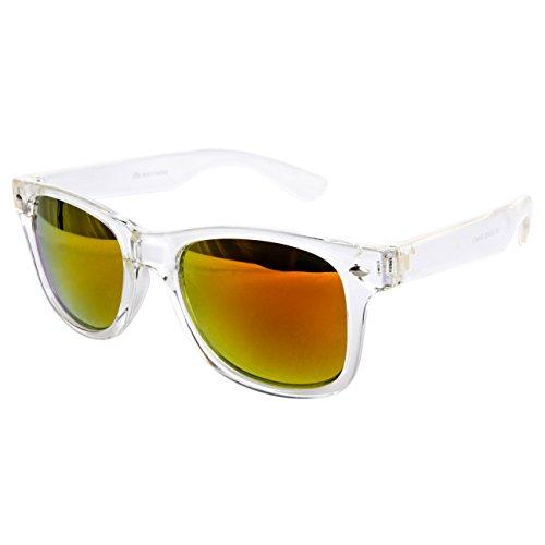 Ciffre Sonnenbrille Nerdbrille Nerd Retro Look Brille Pilotenbrille Vintage Look - ca. 80 verschiedene Modelle Weiß Bunt Verspiegelt Transparent