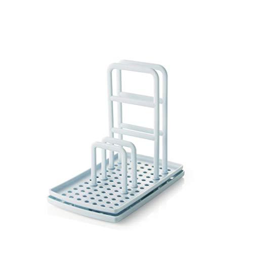 MNSYD Küchentischplatte Lappenregal Nicht perforierte Schwammbürste Abflussregal Waschbecken Aufbewahrungsregal Multifunktional für Wäscher und anderes Geschirrspülzubehör,Blau