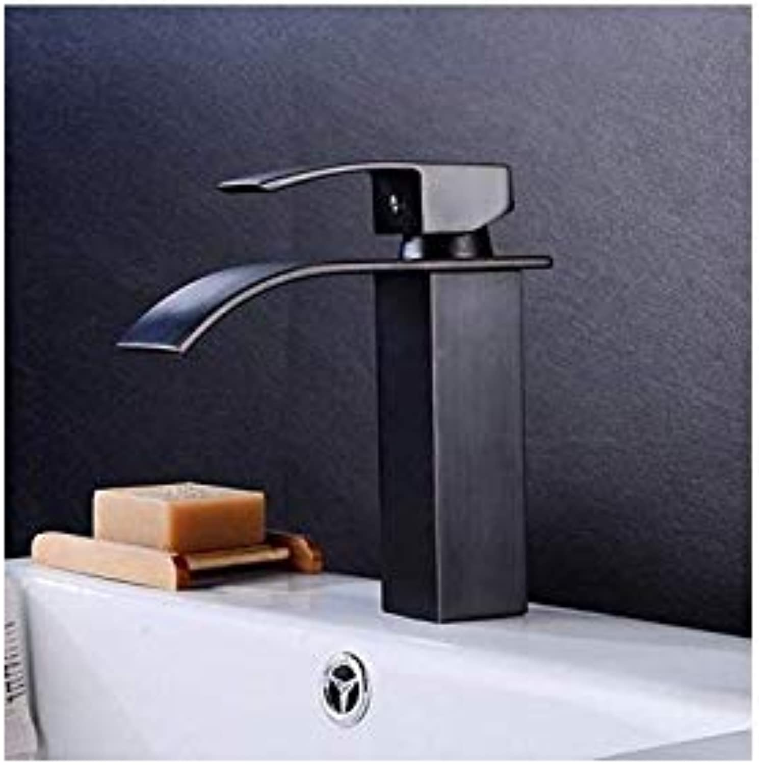 Basin Faucet Antique Waterfall Faucet Bathroom Faucet Basin Mixer Tap Basin Faucet Black Bathroom Basin Sink Faucet