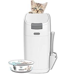 Littycat Katzenstreu Entsorgungseimer mit Schaufel - Katzenklo Mülleimer 2