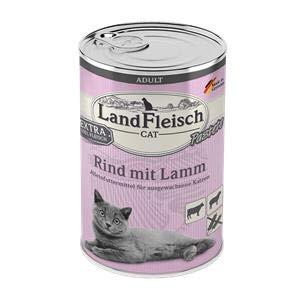Landfleisch Cat Adult Pastete mit Rind+Lamm | 6X 400g Katzenfutter