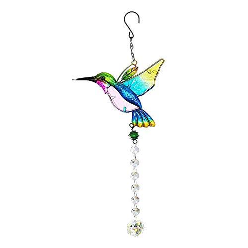 LGLG Colibri - Colgante de cristal colorido con diseño de colibrí