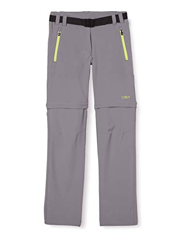 CMP Jungen Zip Off Dry Function Trousers Hose, Grey-Energy, 104