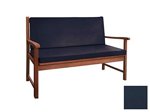 BigPolster Bankauflage Sitzkissen in verschiedenen Größen 1 150 x 50 x 5 Marine