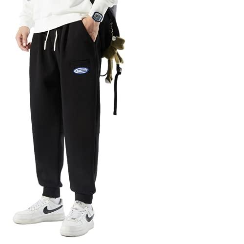 Pantalones casuales para hombre, moda de primavera y otoño, pantalones deportivos informales estampados con personalidad para todos los partidos, pantalones de entrenamiento juvenil de moda XL