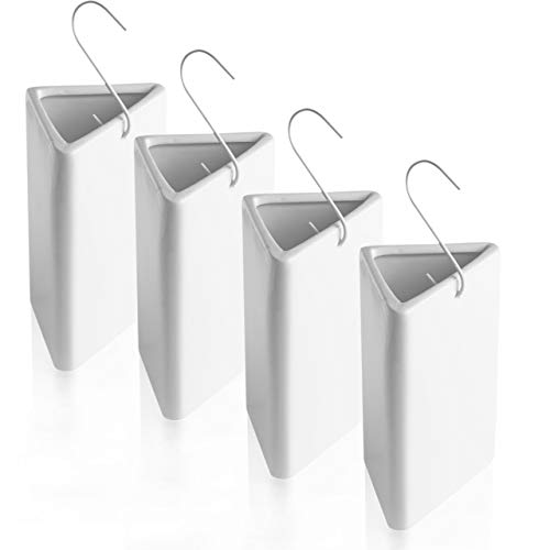 BonAura® Luftbefeuchter Heizung Set aus Keramik - 4 Stück Heizkörper Verdunster mit Haken inklusive Duftöl - Wasserverdunster mit kostenlosem Aroma Öl (Citrus Duft)