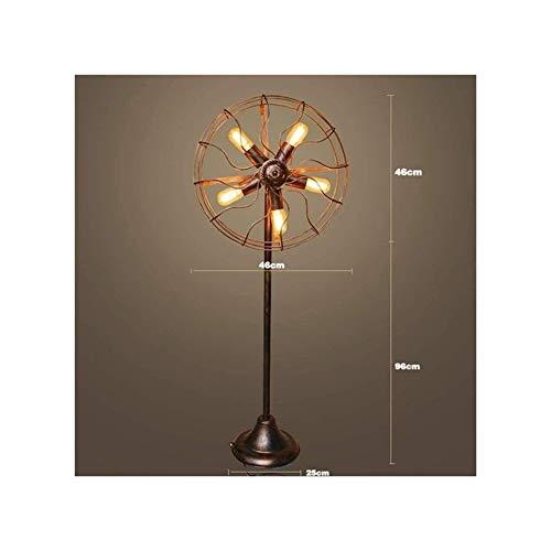 HGDD 5 Lampe Stehlampe Industrie Retro Fan Draht Metall-Käfig Wohnzimmer Schlafzimmer Nachtleseraum mit Eisen-Wasser-Rohr-Stehleuchte Bronze Stehlampe Günstige Kronleuchter