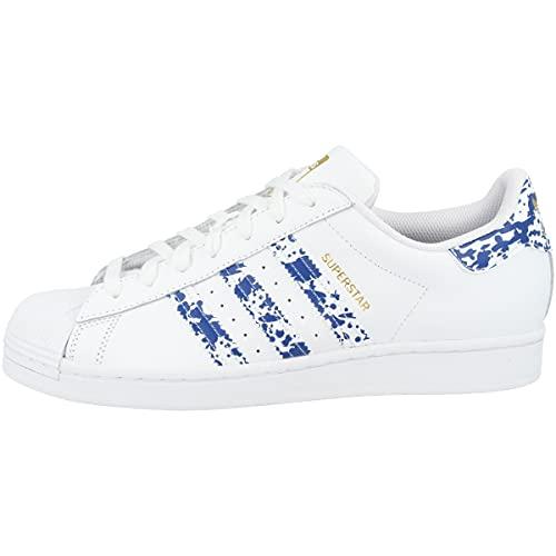 adidas Zapatillas para hombre Low Superstar, color Blanco, talla 39 1/3 EU