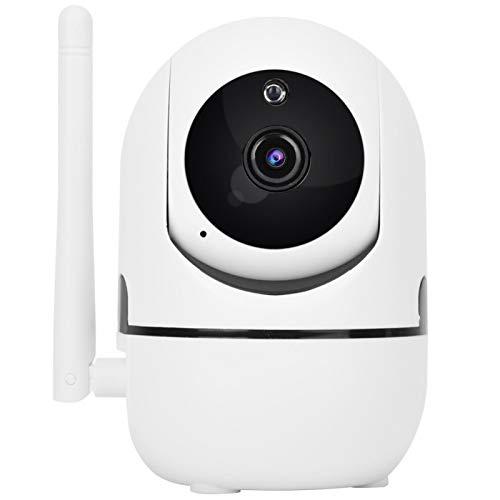 Mxzzand Cámara WiFi Cámara WiFi inalámbrica HD 1080p para Interiores con intercomunicador de Voz bidireccional Almacenamiento en la Nube para el hogar Blanco(Enchufe de la UE)