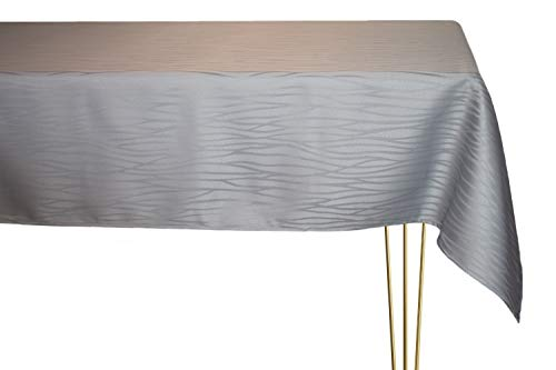 Mantel antimanchas de diferentes tamaños, formas y colores. Mantel cuadrado gris a rayas hecho a mano 100% poliéster. Mantel de jardín 120 x 120 cm