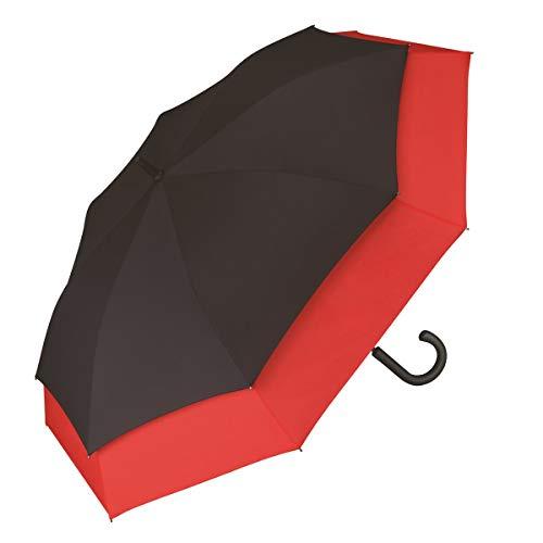 Regenschirm Stockschirm XXL Herren Damen Automatik Schwarz Rot Pierre Cardin