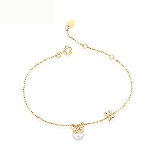 Braclets para niñas perla linda pulsera chapado 9K arco pulsera accesorios de muñeca