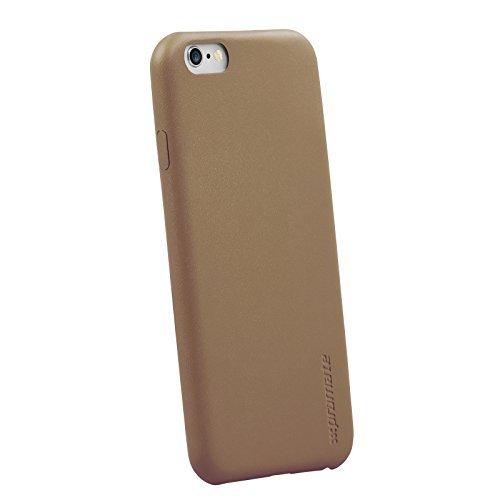 Promate Jas iPhone 6 Case Lederen Snap-on Premium Super Slim Beschermend 4,7 Inch iPhone 6/6S (goud)