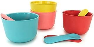 Ekobo 69736 Bambino Ice Cream Cup Set with 4 Spoons