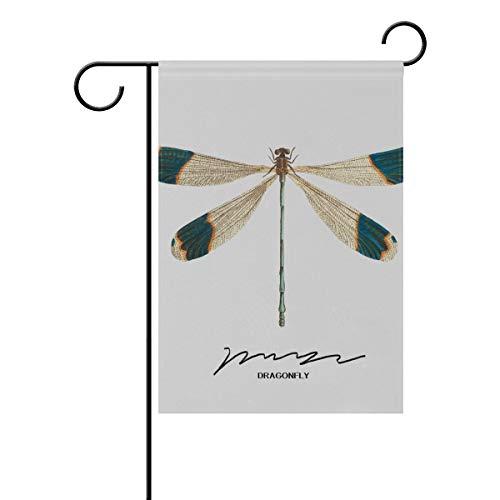 Chic Houses 2030891 - Bandiera da giardino con libellula, verticale, double face, stile conciso, moderno, minimalista, Pasqua, primavera, estate, benvenuto, cortile, 30,5 x 45,7 cm, 2030892, 12x18(in)