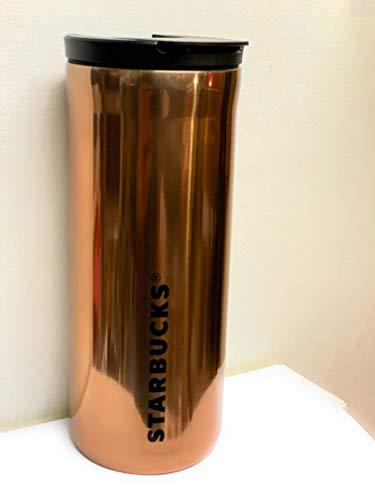 Starbucks Vacuum Insulated Stainless Steel Traveler Tumbler Coffee Mug 16 Oz - Rose Gold