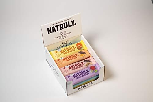 Energy Riegel Natruly, 100% Natürlich und Bio, Glutenfrei, Vegan, Ohne Zuckerzusatz, Pack 12x40g (Mix)