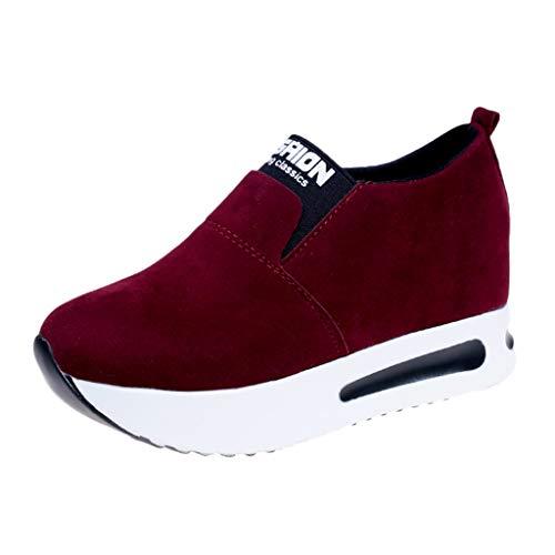Zapatillas de Plataforma Cuña Deportivo para Mujer Primavera Verano PAOLIAN Zapatos Escolares Running Aire Libre Exterior Señora Casual Calzado Piel Sintético Chica Ddolescente Cómodos