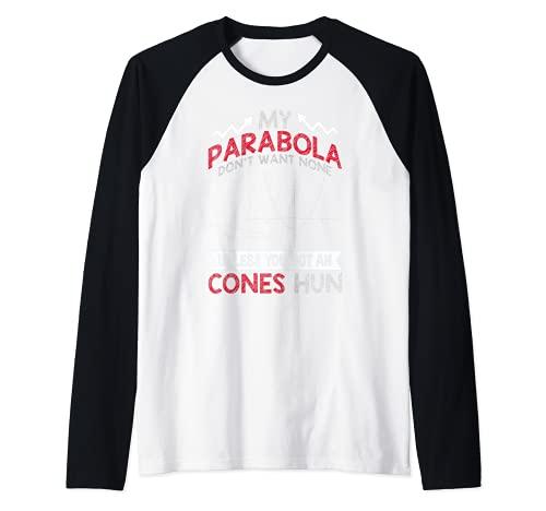 Parabola Joke Inspired Hilarious Graph Related Math Adult Hu Camiseta Manga Raglan