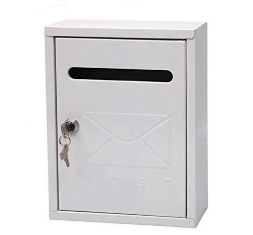 Buzón Exterior Metálico, 3 Colores, Motivo Casita, Correos Exterior, Para Cartas Y Correo Postal,...