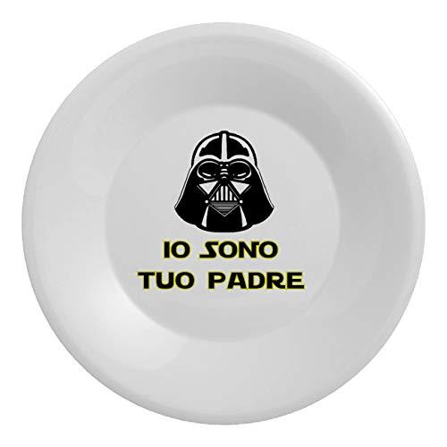 My Custom Style Assiettes en polymère, fête des pères, incassables Diametro 20,3cm Festa Del Papà Alieno