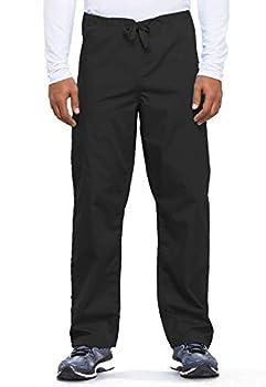 Cherokee Originals Unisex Drawstring Cargo Scrubs Pant Black Large