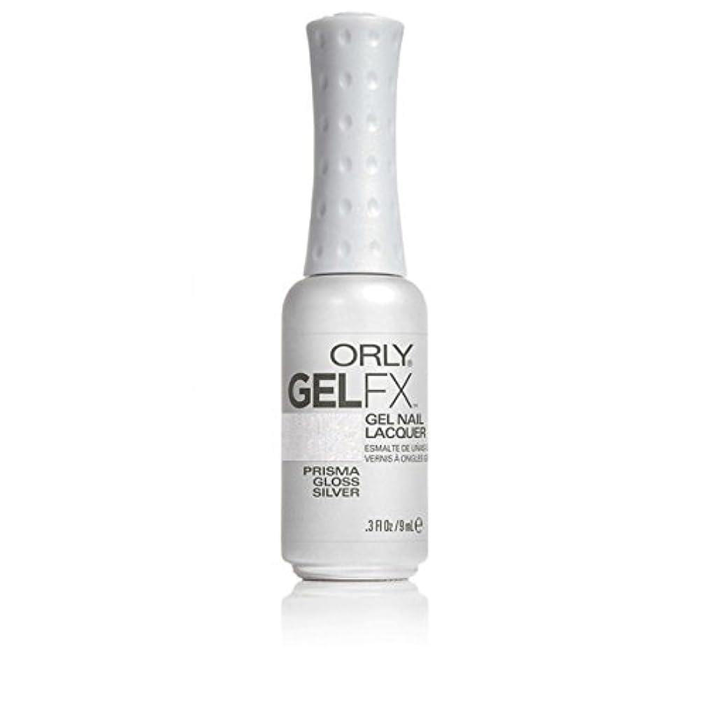 胚柱旧正月ORLY(オーリー)ジェルFXジェルネイルラッカー 9ml プリズマグロスシルバー#30708