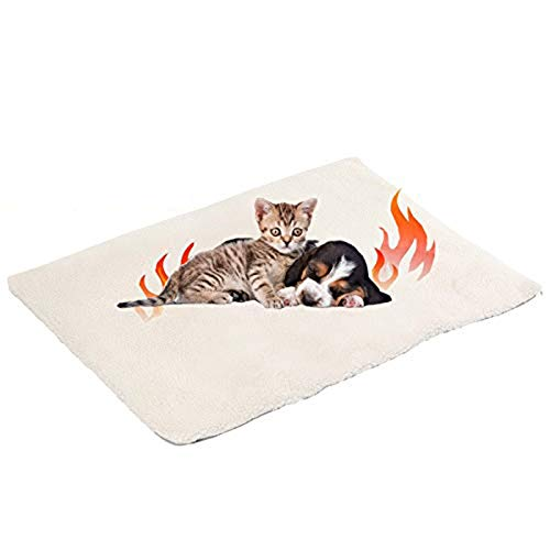 Klemon Self Heating Pet Pads Pet Blanket for Cat/Dog,Pet Heating Pad,Self Warming Cushion Mat for Cats Dogs,Self Heated Cat Dog Bed/Pet Thermal Mat Blanket Ecological (60x45 cm)