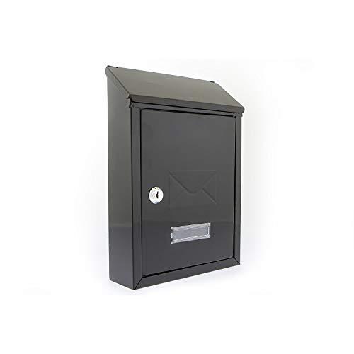 Avon-stalen brievenbus 001 van de G2 Trading Company in zwart