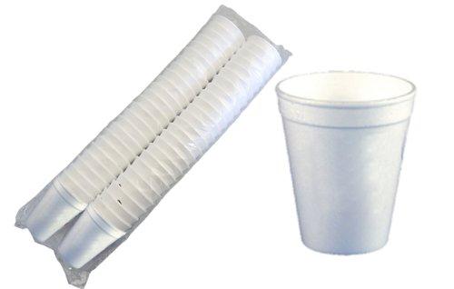 200 Thermobecher weiss für heiße Getränke 0,2 l Glühweinbecher, Heißgetränkebecher Styroporbecher