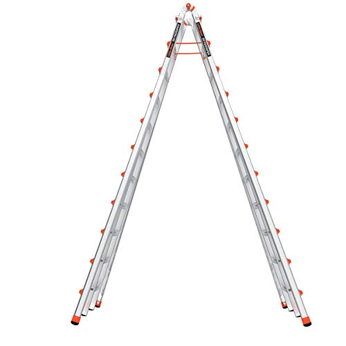 Little Giant Ladders, SkyScraper, M21, 11-21 Foot, Stepladder, Aluminum, Type 1A, 300 lbs Weight Rating, (10121)
