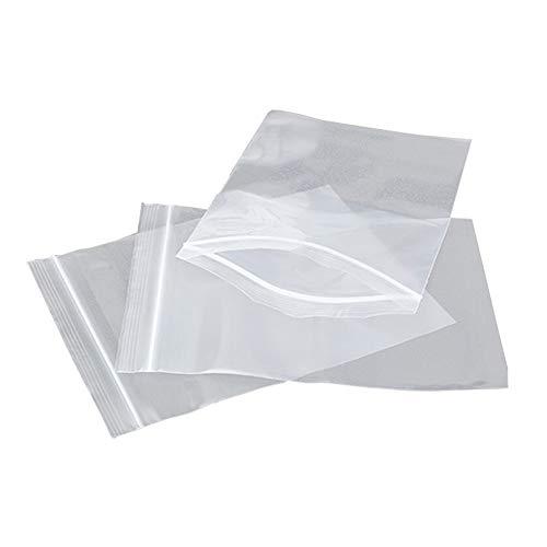 Ndier 100pcs PE con cierre de cremallera bolsa de plástico transparente Ziplock joyería Zip Zip Lock puede volver a cerrar plástico poli Claro Bolsas Bolsa de envases pequeños (4 * 6 cm)