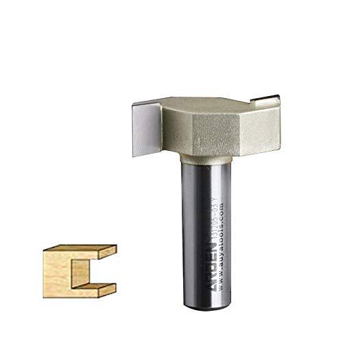 jiansheng Woodworking Tool Metric T Type Slotting Cutter Router Bit - 1/4'*2mm - 1/4' Shank - A1612014