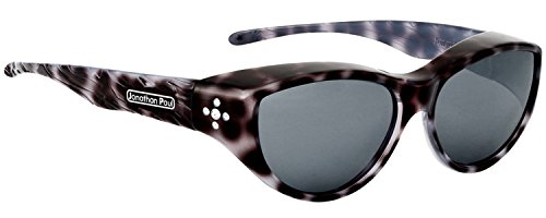 Jonathan Paul Polarized Fitover Sunglasses in Black Cheetah with Grey Lenses