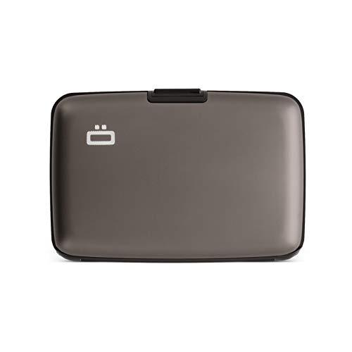 Ögon Smart Wallets - Stockholm Cartera Tarjetero - Protección RFID: Protege Tus Tarjetas de Robar - hasta 10 Tarjetas + Recetas + Notas - Aluminio anodizado (Titanium)