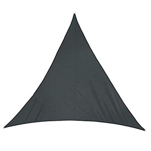 LRZLZY En Forma de D Pantalla de Tela Triangular Toldo de Vela Anillo de Metal Anti-UV Terraza poliéster, 5 tamaños, 8 Colores Respetuoso del Medio Ambiente (Color : Gray, Size : 3X3X3M)