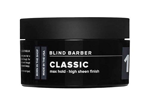 Blind Barber 101 Proof Classic Pomade - Styling Pomade for Men - Strong, Malleable Hold & High Shine Hair Product For Guys - Water Based (2.5oz / 70g)