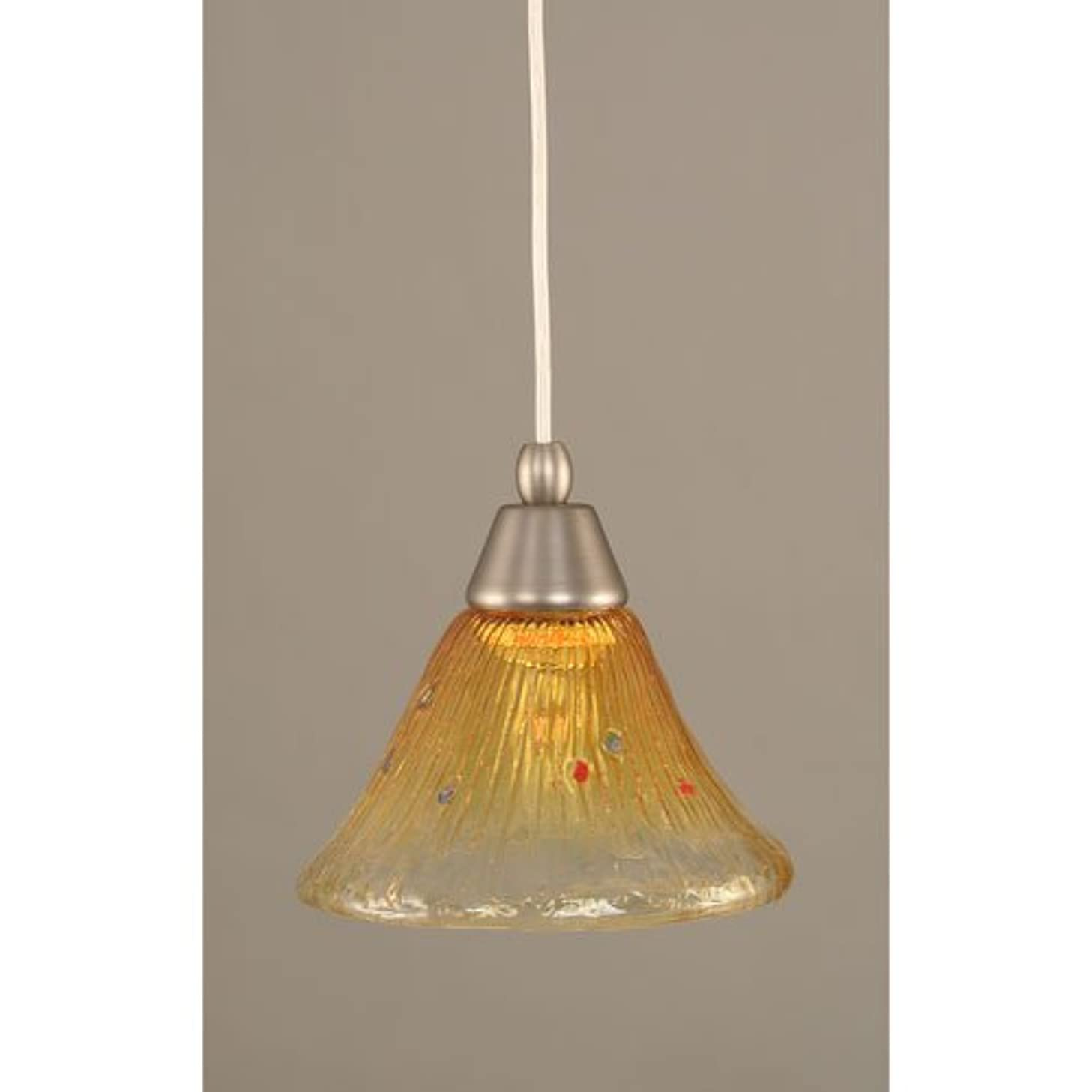Cord Mini-Pendant - Gold Champagne Crystal Glass
