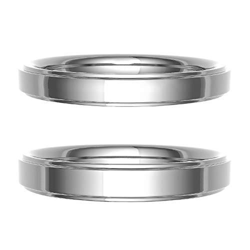 [ココカル]cococaru ペアリング 結婚指輪 シルバー 2本セット マリッジリング 日本製 (レディースサイズ4号 メンズサイズ15号)