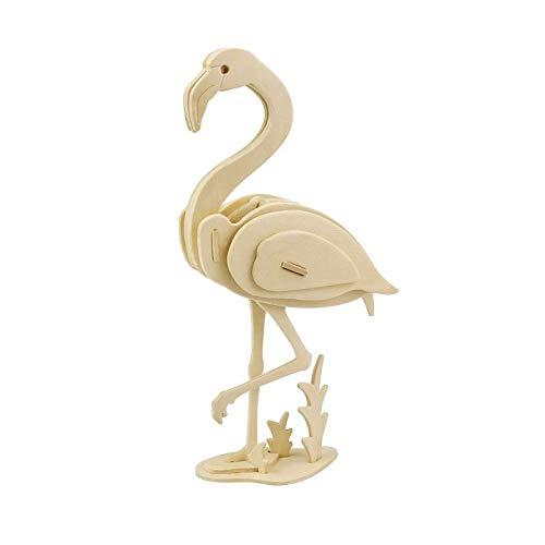 Georgie Porgy 3D Holz Puzzle Flamingo Modell Woodcraft Baukasten Kinder Spielzeug (JP269 Flamingo 22pcs)