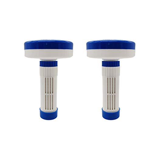 MERIGLARE Dispensador de Cloro Flotante de 2 Piezas para Tabletas de 1 a 3 Pulgadas para Piscina en/Al Aire Libre