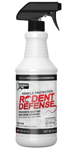 Exterminators Choice Rodent Defense Vehicle Protection Spray | 32 Ounce | Natural, Non-Toxic Mouse...