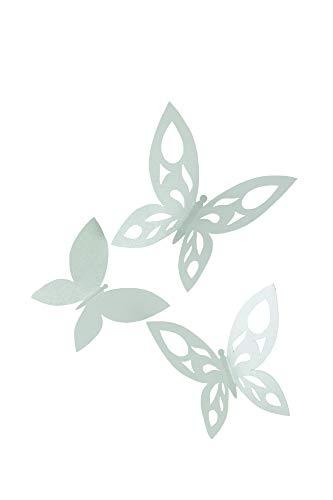 Heitmann Deco Papier-Schmetterlinge in verschiedenen Größen - zum Dekorieren und Basteln - Wanddeko, Frühlingsdeko, Osterdeko - Mint
