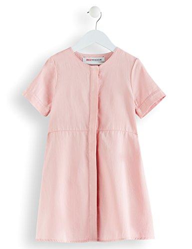 RED WAGON Mädchen Kleid in A-Linien-Form, Rosa (Pink Coral), 140 (Herstellergröße: 10 Jahre)